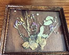 Картина от сухи цветя