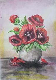 """Картина""""Макове във ваза"""""""