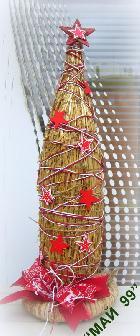 Коледна елха от слама