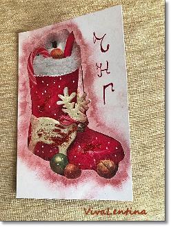 Коледна картичка декупаж