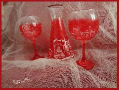 Коледна магия - чаши за вино