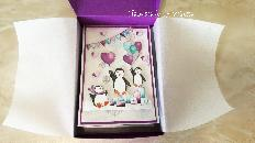 Коледна pop-up лилава картичка