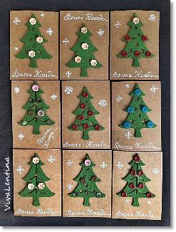 Коледни картички с елхичка