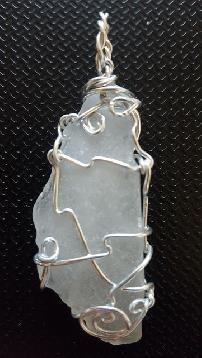 Колие от морско стъкло