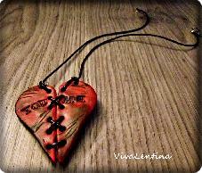 Колие със сърце Ти и Аз