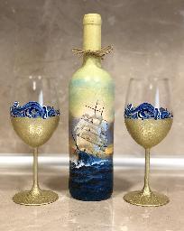 Комплект с морски мотиви. Подарък за имен ден, рожден ден, юбилей.