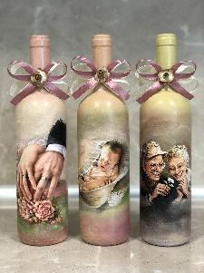 Комплект вина за наричане. Бутилки за сватба.