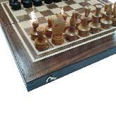 Комплект за шах и табла с естествен фурнир