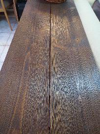 Конзолна маса от състарено дърво по размери на клиента