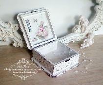 Кутия за бижута- shabby chic, vintage