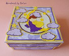 Кутия за съкровища в лилаво и жълто