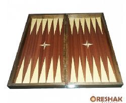 Кутия за шах и табла с естествен фурнир махагон