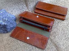 Луксозен дамски портфейл, естествена кожа