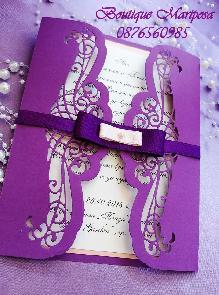 Луксозни покани в кутия Покана за кумове