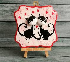 """Малка картина """"Влюбени котета"""""""