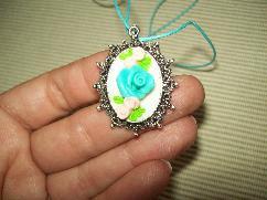 Медальон с обеци и пръстен- ръчна изработка