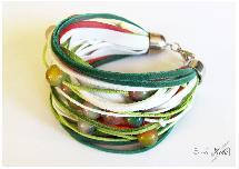 Melange agate bracelet