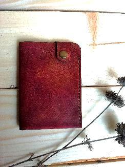 Мини портфейл от естествена кожа
