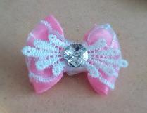 Мини шнола панделка в розово и бяло