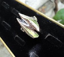 модел 156 Изработени от масивно сребро  Дамски пръстен риби