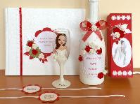 Моминско парти - подаръци и аксесоари. Чаши, ленти, гривнички, банери