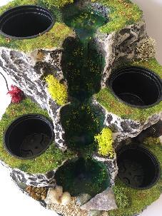 NATUREALLITY Водопад с течаща вода и място за 4 саксий