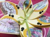 Ръчно изработена картичка цвете