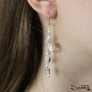 Обеци с планински кристал и сребро