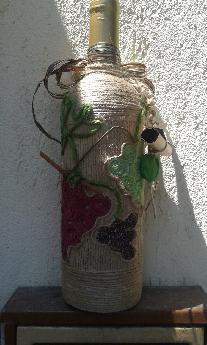оригинален подарък-аранжирана бутилка