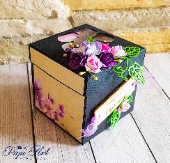 """Papi Art - експлодираща кутийка """" Магията на цветята"""""""