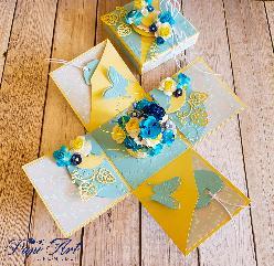 Papi Art - Ръчно изработена експлодираща кутийка-с цветя