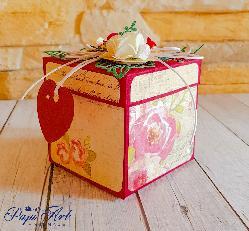 Papi Art - ръчно изработена експлодираща кутийка с мини торта