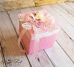 Papi Art - ръчно изработена експлодираща кутийка с мини тортичка
