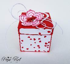 Papi Art - Ръчно изработена експлодираща кутийка-валентинка