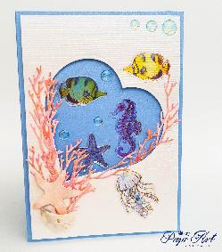 """Papi Art - Ръчно изработени картички """"Морско дъно"""""""