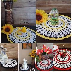 Ръчно изплетени салфетки за цветно и пъстро допълнение към домашния интериор