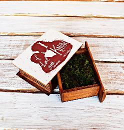 Персонализиран Сватбен подарък Междузвездни войни, дървена кутия за халки