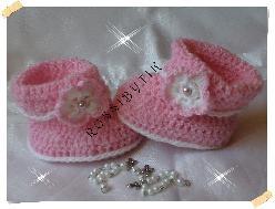 плетени обувчици тип ботушки