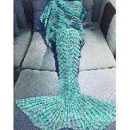 Плетено одеяло тип Русалка за възрастни и деца