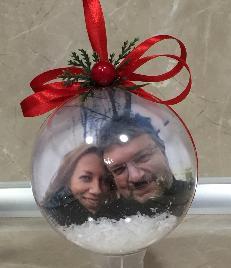 Подарък за Коледа. Топки за елха със снимка
