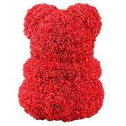 Подарък заосми март Мече от рози bear rose 23 см рожден ден