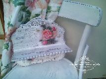 Поставка с рафт и 3 закачалки  Roses  Paris , Shabby Chic, Vintage, Decoupage