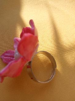 Пръстен Цвете розов меланж
