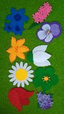 Пролетни цветя от филц