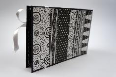Ръчно изработен албум - черно и бяло - вариант 3
