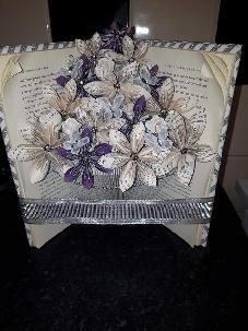 Ръчно изработен АРТ Букет с рози Коледен подарък Handmade ART Christmas Gift