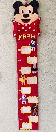 Ръчно изработен детски метър за стая Мики Маус и приятели