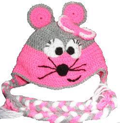 Ръчно изработена детска шапка с декорация котка