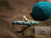 Ръчно изработена гривна от естествена вълна,конопено влакно и памук за мъже