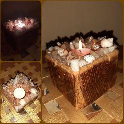 Ръчно изработени фън шуй свещници от естествени камъни